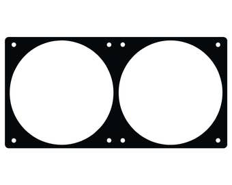 240mm fan grill , fan hole template with a 15mm spacing
