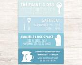 Fun Paint Swatch Housewarming Invitation