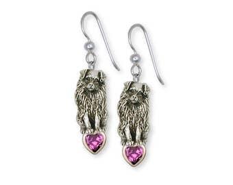 Australian Shepherd Earrings Jewelry Sterling Silver Handmade Dog Earrings AU8-SE