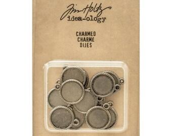 "Tim Holtz Idea-ology CHARMED 3/4"" metal embellishments 7.cc1x"