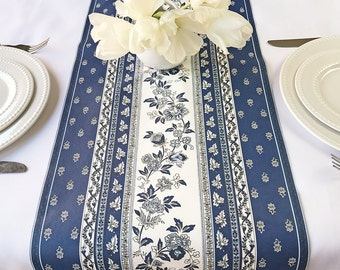 New : Table Runner Provence  Avignon in Blue - Easy Care Fabric - Please choose the size -