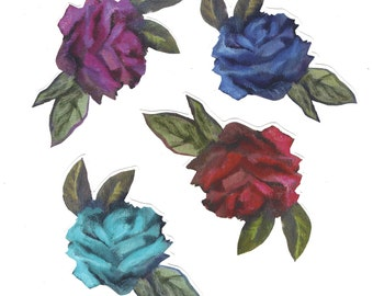 Lot of Four Rose Stickers