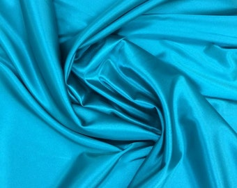 Turquoise polyester spandex satin fabric shiny stretch satin fabric dress shirt lingerie
