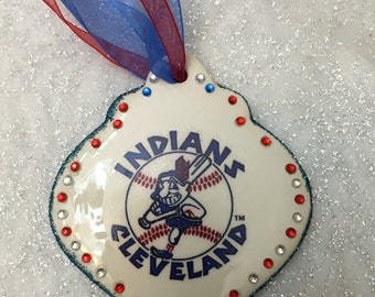 Cleveland Indians Christmas ornament