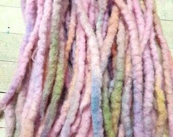 Dreadlock set of 25 Wool Dreads Accent Dreads READY TO SHIP  to Ship Tye Dye