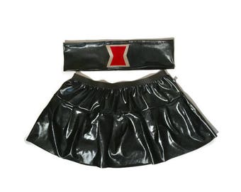 Super Hero Black Widow costume -skirt with belt accessory only