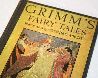 Grimm's Fairy Tales Illustrated by Elenore Abbott, Vintage Collectible Children's Stories