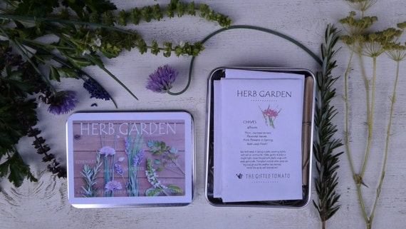 Herb Garden Kit 6 Packets Of Organic Herbs Gardening Gift