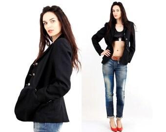 Vintage Horse Riding Jacket / Black Blazer / Black Jacket / Classic Jacket / Fitted Jacket  Size M