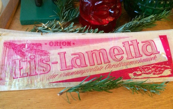 Single Package of Vintage German Orion Gold Lametta - Real Metal Icicles