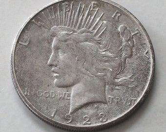 1923s Peace Dollar Silver Coin - sku 3179b11