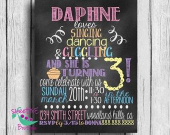 Birthday invite, loves, 1st, 2nd, 3rd, 4th, 5th, birthday PRINTABLE, digital image,