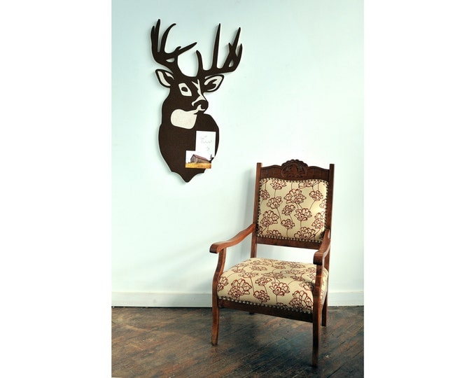 Tropy Deer Cork Board, Bulletin / Message Board, a Functional Wall Decoration
