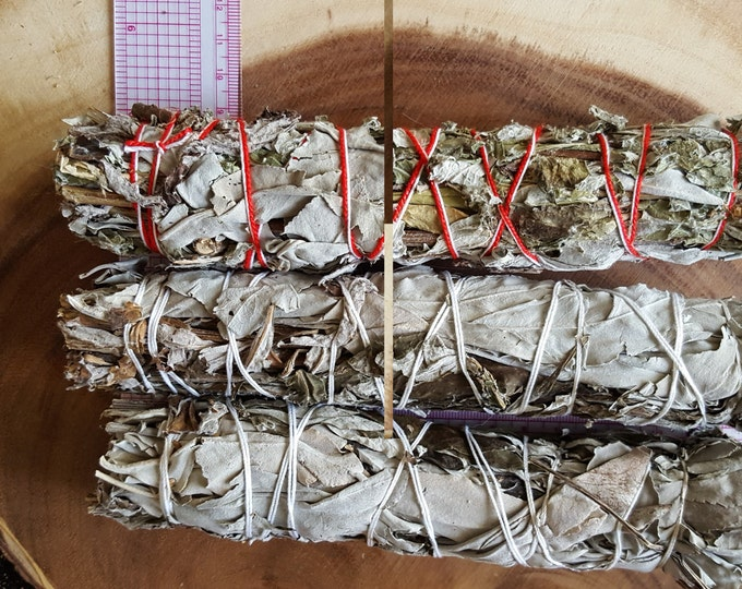 Large California White and Black Sage (Dream Weed, Mugwort, Magical Sage) Bundle approximately 8~9 inches, wild harvested, Reiki infused