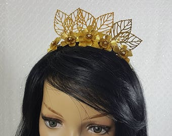Gold Tiara Woodland Fairy Wedding