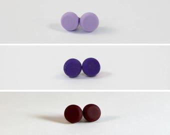 Clay Earrings - Purples