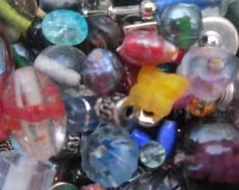 Random Bead Grab Bag | Rainbow Bead Assortment | Bead Soup | Jewelry Supplies | 1.5 Ounces of Beads
