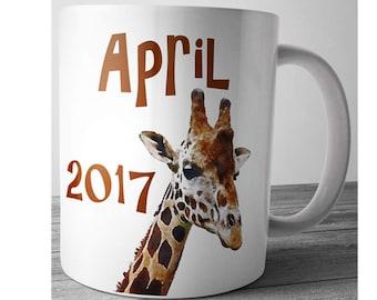April The Giraffe Mug, Giraffe Mug, April Giraffe, Pregnancy Mug, Giraffe Watcher, Unique Cute Coffee Mug