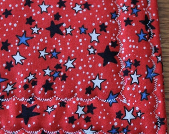 Pot Holder Set, Red with Blue and White Star Pot Holder Set, Patriotic, Fourth of July, Rectangle, Trivet, Oven Mitt