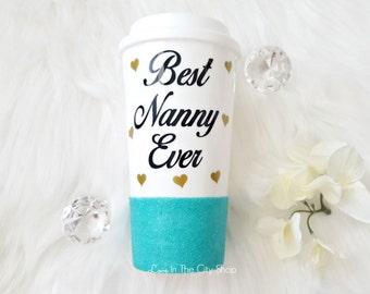 Babysitter Gift, Best Babysitter Mug, Nanny Gift, Gift for Nanny, Gift for Babysitter, Best Babysitter Ever, Glitter Mug, Babysitter Mug