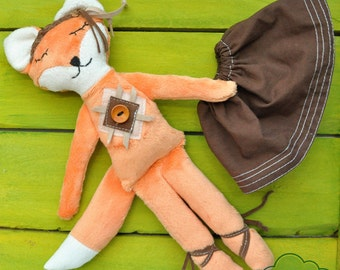 Plush Toy, Doll, Soft Fox Girl
