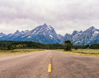Nature Photography - Down the Road - Grand Teton National Park