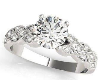 Art Deco Milgrain Engagement Ring