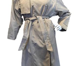 Vintage 1980s St Michael Mac Raincoat Coat 12