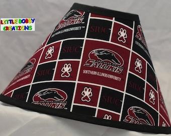 NCAA Southern Illinois University Salukis Fabric Lamp Shade (10 Sizes to Choose From!)