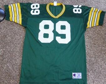 Vtg Mark Chmura Green Bay Packers NFL Champion Jersey Sz Men's 48 XL