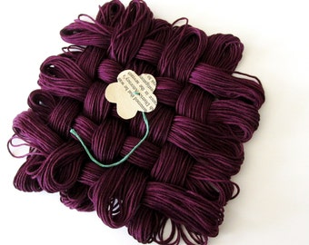 Very Dark Grape Thread - #154 - Pack of 12 Skeins