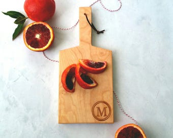 Maple Mini-Boards with handle and Initial Engraving