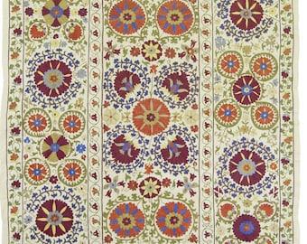 Amazing antique design handmade suzani textile from Uzbekistan / Bukhara 5094