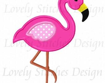 Flamingo Applique Machine Embroidery Design NO:0593