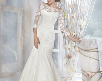 Bridal Lace Wedding Dress - Doncella Wedding Stunning Lace Dress - Long Wedding Dress - Elegant Wedding Dress - Mermaid Wedding Dress