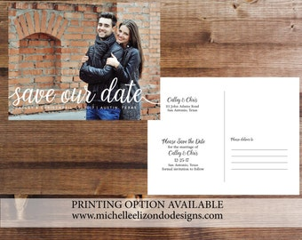 Photo Save-the-Date-Printable Invitations-5x7 Digital File-Photo Card-Photo Card-Announcement Invites