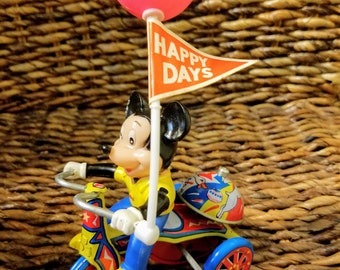 Vintage Mickey Mouse on Tricycle