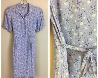 Vintage April Cornell Lavender 90's Dress