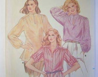 VINTAGE 1980s Butterick 3671 Tunic & Blouse Pattern sz 12-14-16-18-20-22 UNCUT