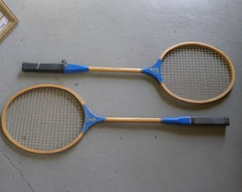 """Pair of badminton racquets - two blue """"Trophy"""""""