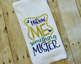 Mardi Gras Kitchen Towel - Throw Me Something Mister
