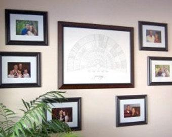Hand-drawn Genealogy Chart - Digital File - 8 Levels