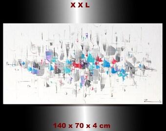 "Flower rain - painting 27,56 x 39,37 x 1,57"""