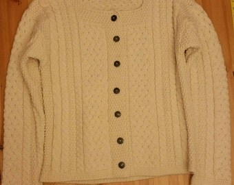 Vintage Inis Crafts Irish knit sweater, cable knit sweater. 100% wool