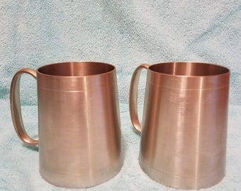 Singapore Straits Pewter Vintage Antique Etched Tankard Steins Mugs From House in Redbank New Jersey