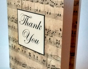 "Thank you card ""Claudia"" music"