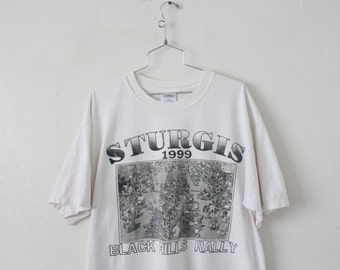 XLARGE Vintage 1990s Sturgis Black Hills Rally Graphic T-Shirt