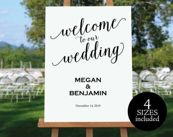 Welcome Wedding Sign, Wedding Welcome Template, Welcome Wedding Printable, Wedding Sign, Template, PDF Instant Download, MM01-1