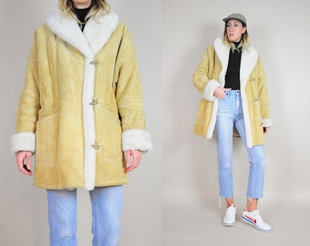 Suede Oversized Shearling Coat