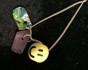 Happy Record Necklace